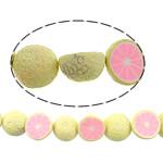 Beads polimer balta, Polymer Clay, Portokall, asnjë, asnjë, asnjë, 21x21x11mm, : 1.2mm, : 14.5Inç, 10Fillesat/Shumë,  Shumë