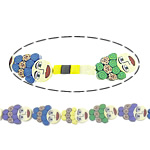 Beads polimer balta, Polymer Clay, Karakter, asnjë, asnjë, ngjyra të përziera, 30x20x6mm, : 1.2mm, : 14Inç, 10Fillesat/Shumë,  Shumë