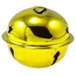 Hekuri Pendants Bell, Zile, pikturë, asnjë, i verdhë, , nikel çojë \x26amp; kadmium falas, 40x34mm, : 5x3mm, 50PC/Qese,  Qese