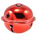 Hekuri Pendants Bell, Zile, pikturë, asnjë, i kuq, , nikel çojë \x26amp; kadmium falas, 40x34mm, : 5x3mm, 50PC/Qese,  Qese