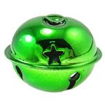 Hekuri Pendants Bell, Zile, pikturë, asnjë, e gjelbër, , nikel çojë \x26amp; kadmium falas, 35x28mm, : 6x3mm, 100PC/Qese,  Qese