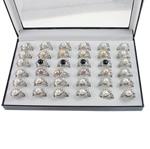 Ujërave të ëmbla Pearl Ring Finger, Pearl kulturuar ujërave të ëmbla, Peshk, natyror, ngjyra të përziera, 21x29.50x16mm, : 18mm, :8, 36PC/Kuti,  Kuti