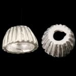 925 Sterling Silber Perlkappen, Kegel, gewellt, 5x3mm, Bohrung:ca. 1mm, 100PCs/Tasche, verkauft von Tasche