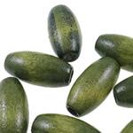 Beads druri, Daulle, i lyer, asnjë, e gjelbër, 10x20mm, : 4mm, 830PC/Qese,  Qese
