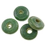 Beads druri, Heishi, i lyer, asnjë, e gjelbër, 11x4mm, : 3mm, 2500PC/Qese,  Qese