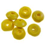 Beads druri, Rondelle, i lyer, asnjë, i verdhë, 8x4mm, : 3mm, 5555PC/Qese,  Qese