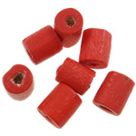 Beads druri, Tub, pikturë, asnjë, i kuq, 4x5mm, : 1.5mm, 12500PC/Qese,  Qese