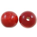 Beads druri, Round, i lyer, asnjë, i kuq, 20mm, : 4mm, 200PC/Qese,  Qese