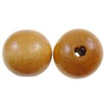 Beads druri, Round, i lyer, asnjë, portokall, 20mm, : 4mm, 200PC/Qese,  Qese
