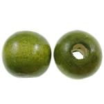 Beads druri, Round, i lyer, asnjë, Ushtria Kamuflimi gjelbër, 14mm, : 4mm, 555PC/Qese,  Qese