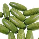 Beads druri, Oval, i lyer, asnjë, e gjelbër, 8x22mm, : 2.5mm, 1000PC/Qese,  Qese