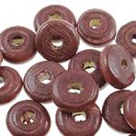 Beads druri, Heishi, i lyer, asnjë, Ngjyra e kuqe kafe, 10x4mm, : 3mm, 2500PC/Qese,  Qese