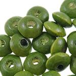Beads druri, Rondelle, i lyer, asnjë, Ushtria Kamuflimi gjelbër, 10x5mm, : 3mm, 3330PC/Qese,  Qese