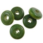 Beads druri, Heishi, i lyer, asnjë, Ushtria Kamuflimi gjelbër, 10x4mm, : 3mm, 2730PC/Qese,  Qese
