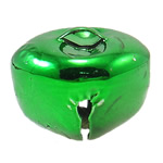 Hekuri Pendants Bell, Zile, pikturë, asnjë, e gjelbër, , nikel çojë \x26amp; kadmium falas, 25x20mm, : 6x3mm, 200PC/Qese,  Qese