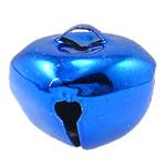 Hekuri Pendants Bell, Zile, pikturë, asnjë, blu, , nikel çojë \x26amp; kadmium falas, 25x22mm, : 6x4mm, 200PC/Qese,  Qese