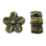 Beads Alloy zink Lule, Ngjyra antike bronz i praruar, asnjë, asnjë, , nikel çojë \x26amp; kadmium falas, 7x3.5mm, : 1.5mm, 2500PC/KG,  KG