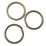 Iron Mbyllur Ring Jump, Hekur, Petull e ëmbël në formë gjevreku, Ngjyra antike bronz i praruar, asnjë, asnjë, , nikel çojë \x26amp; kadmium falas, 9x0.9mm, : 7.5mm, 7690PC/KG,  KG
