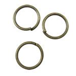 Iron Mbyllur Ring Jump, Hekur, Petull e ëmbël në formë gjevreku, Ngjyra antike bronz i praruar, asnjë, asnjë, , nikel çojë \x26amp; kadmium falas, 8x0.8mm, : 6.5mm, 12500PC/KG,  KG