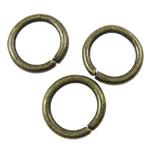 Iron Mbyllur Ring Jump, Hekur, Petull e ëmbël në formë gjevreku, Ngjyra antike bronz i praruar, asnjë, asnjë, , nikel çojë \x26amp; kadmium falas, 8x1.2mm, : 5.5mm, 6665PC/KG,  KG
