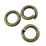 Iron Mbyllur Ring Jump, Hekur, Petull e ëmbël në formë gjevreku, Ngjyra antike bronz i praruar, asnjë, asnjë, , nikel çojë \x26amp; kadmium falas, 5x1mm, : 3.4mm, 17510PC/KG,  KG