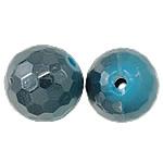 Beads UV akrilik Plating, Round, Plating UV, asnjë, blu, 14mm, : 2mm, 330PC/Qese,  Qese
