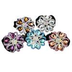 Tie diamant i rremë Flokët Lule, Alloy zink, with Velveteen, Ngjyra argjend praruar, me diamant i rremë, asnjë, , nikel çojë \x26amp; kadmium falas, 64x20mm, : 6Inç, 12PC/Qese,  Qese