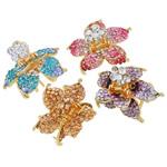 Flokët Clips Claw, Alloy zink, Lule, ngjyrë ari praruar, me diamant i rremë, asnjë, , nikel çojë \x26amp; kadmium falas, 42x53x40mm, 12PC/Qese,  Qese