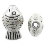 Beads Alloy zink Kafshëve, Peshk, Ngjyra antike argjendi praruar, asnjë, asnjë, , nikel çojë \x26amp; kadmium falas, 9x15x6mm, : 1.5mm, 454PC/KG,  KG