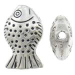 Beads Alloy zink Kafshëve, Peshk, Ngjyra antike argjendi praruar, asnjë, asnjë, , nikel çojë \x26amp; kadmium falas, 13x21x7mm, : 1.5mm, 212PC/KG,  KG