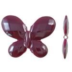 Beads UV akrilik Plating, Flutur, Plating UV, asnjë, Pink fuchsia, 30x23x4.50mm, : 2mm, 290PC/Qese,  Qese