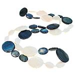 Necklaces Shell, Predhë, Oval Flat, i lyer, asnjë, ngjyra të përziera, 18-30mm, : 30Inç,  30Inç,