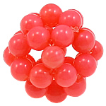 Beads Natyrore Coral, Coral Natyrore, Round, asnjë, qershi, 16mm, : 3mm, 10PC/Qese,  Qese