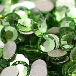 Cabochons Crystal, Kristal, Kube, i praruar, asnjë, Drita Emerald, Një, 2.7-2.9mm, 10Grosses/Qese,  Qese