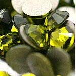 Cabochons Crystal, Kristal, Kube, i praruar, asnjë, jeshile ulliri, Një, 3.8-4.0mm, 10Grosses/Qese,  Qese