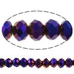 Rondelle Beads Crystal, Kristal, Ngjyra AB kromuar, asnjë, 10x8mm, : 1.5mm, : 11.8Inç, 10Fillesat/Qese,  Qese