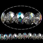 Rondelle Beads Crystal, Kristal, colorful kromuar, asnjë, 10x8mm, : 1.5mm, : 11.8Inç, 10Fillesat/Qese,  Qese