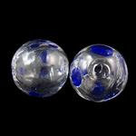 Mundgeblasene Lampwork Perlen, rund, handgemacht, hohl, 12mm, Bohrung:ca. 2-3mm, 50PCs/Tasche, verkauft von Tasche