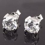 Bizhuteri Vath, 925 Sterling Silver, Lule, asnjë, me diamant i rremë, asnjë, 3mm,  Palë