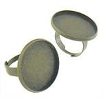 Bezel Brass Ring Base, Tunxh, Shape Tjera, Ngjyra antike bronz i praruar, asnjë, asnjë, , nikel çojë \x26amp; kadmium falas, 24.8x24.8x2mm, 23.3x23.3mm, : 17.3mm, :6, 200PC/Qese,  Qese