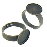 Bezel Brass Ring Base, Tunxh, Shape Tjera, Ngjyra antike bronz i praruar, asnjë, asnjë, , nikel çojë \x26amp; kadmium falas, 12.80x12.80x1.30mm, : 12x12, 17.5mm, :6.5, 300PC/Qese,  Qese