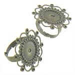 Filigran Brass Ring Base, Tunxh, Shape Tjera, Ngjyra antike bronz i praruar, asnjë, asnjë, , nikel çojë \x26amp; kadmium falas, 26x26mm, : 1,13,17.3mm, :6, 200PC/Qese,  Qese
