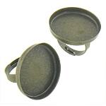 Bezel Brass Ring Base, Tunxh, Shape Tjera, Ngjyra antike bronz i praruar, asnjë, asnjë, , nikel çojë \x26amp; kadmium falas, 20.60x20.60x3mm, : 20x20, 17.2mm, :5, 200PC/Qese,  Qese