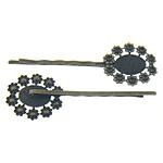 Gjetjet clip flokët, Tunxh, Shape Tjera, Ngjyra antike bronz i praruar, asnjë, , nikel çojë \x26amp; kadmium falas, 24.5x21.3mm, 64.7x1.8mm, : 14x11mm, 200PC/Qese,  Qese