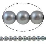 Round Beads kulturuar Pearl ujërave të ëmbla, Pearl kulturuar ujërave të ëmbla, natyror, gri, AA, 10-11mm, : 1mm, : 15.7Inç,  15.7Inç,