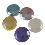 Beads plumb Zi akrilik, Round Flat, plumbit ngjyrë të zezë praruar, ngjyra të forta, ngjyra të përziera, 25x8.5mm, : 2.5mm, 5KG/Shumë,  Shumë