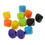Beads Solid Color akrilik, Bicone, asnjë, ngjyra të forta, ngjyra të përziera, 8x8mm, : 2mm, 5KG/Shumë,  Shumë