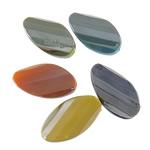Beads plumb Zi akrilik, Nuggets, plumbit ngjyrë të zezë praruar, ngjyra të forta, ngjyra të përziera, 18x31x8.50mm, : 2.5mm, 5KG/Shumë,  Shumë