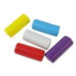 Beads pikturuar akrilik, Kolonë, pikturë, asnjë, ngjyra të përziera, 12.50x29x10.50mm, : 3mm, 5KG/Shumë,  Shumë