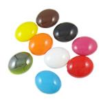 Beads pikturuar akrilik, Oval Flat, pikturë, asnjë, ngjyra të përziera, 24x29x15mm, : 3mm, 5KG/Shumë,  Shumë
